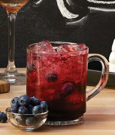 Wild Blueberry Punch recipe from IKEA: 2 tablesppons SAFT BLABAR blueberry syrup 1 oz gin Diet ginger ale Fresh blueberries for garnish