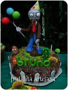 Resultado de imagen para tortas para varones de plants vs zombies