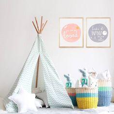 Complemetos para habitaciones infantiles en color pastel - Mamidecora.com