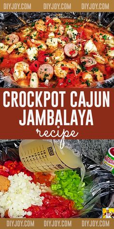 One Pot Dinner Ideas - Crockpot Recipes - Cajun Crockpot Jambalaya Recipe - Southern Style Dinners in Slow Cooker Cajun Recipes, Crockpot Recipes, Jambalaya Recipe, Most Delicious Recipe, Cajun Seasoning, Boneless Chicken Breast, Best Dinner Recipes, Homemade Food, Southern Recipes