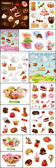 Confectionery Desserts - 13 UHQ JPEG Stock Images