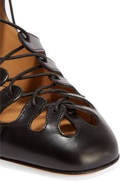 The Row - Dixie Lace-up Leather Mules - Black - IT38
