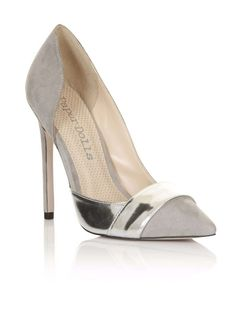 **Paper Dolls 'Portman' Grey & Silver Court Shoes - Dorothy Perkins