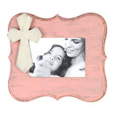 Distressed Pink Scalloped Picture Frame, 5x7