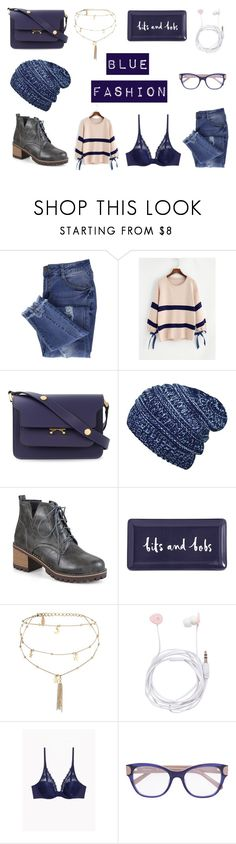 """Blue fashion"" by maggiec003 ❤ liked on Polyvore featuring Essie, Marni, Kate Spade, Ettika, Forever New, casual, Blue and casualoutfit"