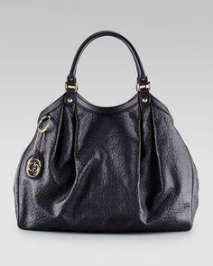 Gucci Sukey Large GG Tote Black Tote Bag 2f13f920745