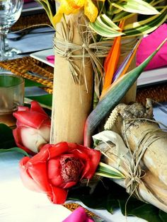 Bamboo decor for tropical weddings, Flowers by Flowers My Company