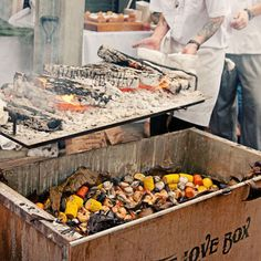 The Love Box – Grill over the coals or directly over the fire.