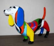 new dress for Fleur by Janneke Neele Crafts For Kids, Arts And Crafts, Paper Crafts, Dachshund, Sculpture Art, Sculptures, Paper Clay, Collage, Dinosaur Stuffed Animal