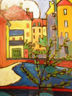 Gabriele Münter 'In Schwabing', 1912, Milwaukee Museum of Art, Milwaukee, Wisconsin | Flickr - Photo Sharing!