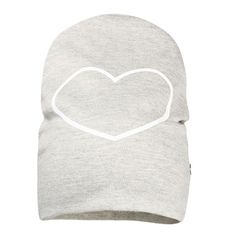 Hat Grey Melange Heart