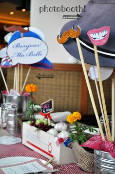 "nice ribbon atelier: Corporate Party - ""French Market"" theme"