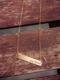 Gold CALIFORNIA love necklace ...CA Love indeed!
