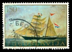 Yugoslavia cancelled postage stamp
