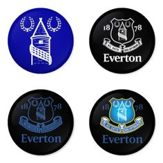 "EVERTON Football Club 1.75"" Badges Pinbacks, Mirror, Magnet, Bottle Opener Keychain http://www.amazon.com/gp/product/B00K30ZA8Y"