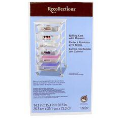 Recollections™ 6 Drawer Metal Cart