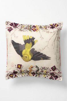 Old World Warbler Pillow