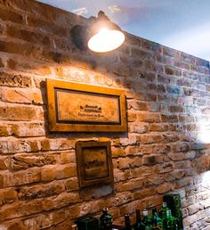 Dining Room Feature Wall using Rustic Red Brick Slips