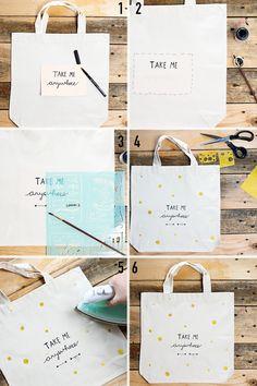 Canvas tassen zijn misschien nog wel één van de leukste tassen. Ze zijn lekker simpel, ik neem ze overal mee naar toe (want oh, wat zijn ze licht) én je kunt ze makkelijk customizen!