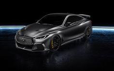 Sports coupe, Infiniti Q60, Project Black S, 2017, Gray Q60, tuning, Japanese cars, Infiniti