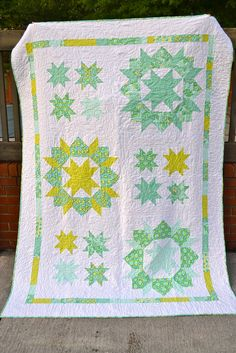 Previous Pinner Wrote: My Swoon & Stars quilt! Twin size. Still planning to make a 3x3 queen size for our bed. :)