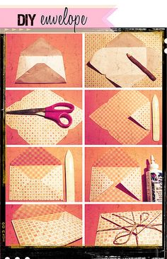 DIY Envelope by carrie elias, via Flickr