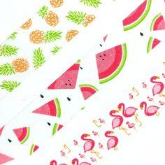Look what's here!!!  photo via @adjackson330 Lora Bailora washi tape flamingos, watermelons, pineapples