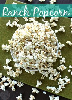 Mix up some 3-ingredient homemade ranch seasoning, and use it to make a batch of ranch popcorn. You won't be sorry!
