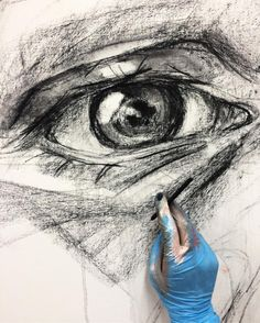 """271 Likes, 1 Comments - Elly Smallwood (@ellysmallwood) on Instagram: """"Charcoal sketch on a new painting"""""""