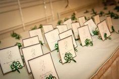 Irish Theme Wedding Decor, Shamrock Place Settings, Four Leaf Heart Clover Place Holder on Etsy, $7.50