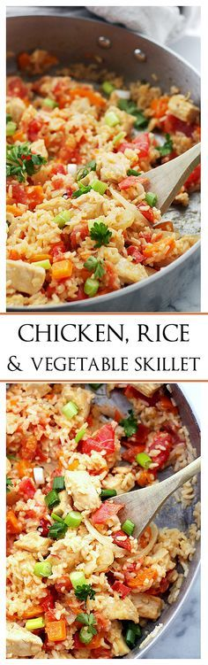 Chicken, Rice and Ve Chicken, Rice and Vegetable Skillet | www ...