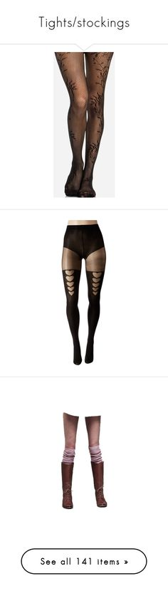 """""""Tights/stockings"""" by avintagemystery ❤ liked on Polyvore featuring intimates, hosiery, tights, socks, leggings, accessories, stockings, black, fishnet tights and fishnet hosiery"""