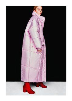 Bubble Long Pink puffer jacket coat