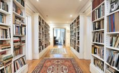 bookshelves; if you don't have space in a room, perhaps a hallway