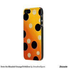 Dots On Blended OrangeToYellow Incipio Feather® Shine iPhone 5 Case