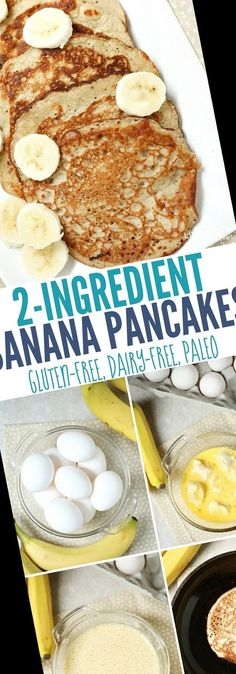 These banana egg pancakes are made with just two ingredients and are naturally gluten-free, dairy-free, and Paleo-friendly.#Pancake #Recipe #2-Ingredient #Pancakes #Banana Pancake Recipe No Eggs 25+ 2-Ingredient Banana Pancakes | Pancake Recipe No Eggs No Butter | 2020 Banana Egg Pancakes, Banana And Egg, Pancakes Easy, Breakfast Pancakes, Egg Recipes For Breakfast, Healthy Breakfast Smoothies, Quick And Easy Breakfast, Breakfast Ideas, Pancake Recipes