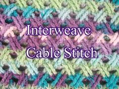 Crochet tutorial that teaches you how to the Interweave Cable crochet stitch. This is great for spring if you just change the size of the stitch from double ...