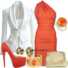 LOVE the style of the dress.....possibly a different color and definitely with different accents.