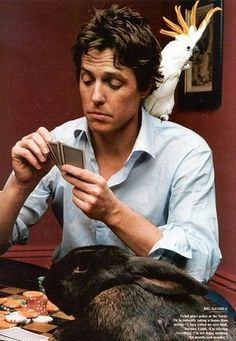 Hugh Grant. I love him in Love Actually and Notting Hill, and About A Boy, and well almost everything.