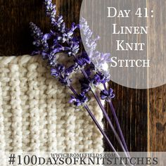 The linen stitch makes a lovely basket weave! {Video}