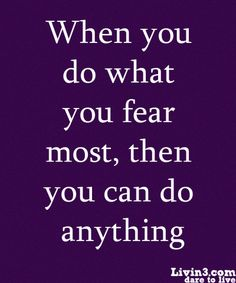Fear quote, Motivation