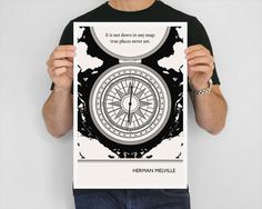 Illustration Herman Melville Quote Moby Dick