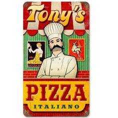 Personalized Metal Pizza Place Sign
