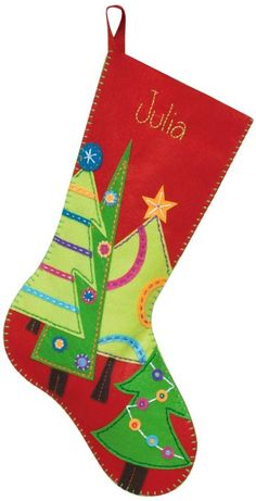 Amazon.com: Dimensions Needlecrafts Felt Applique, Festive Tree Stocking: Arts, Crafts & Sewing