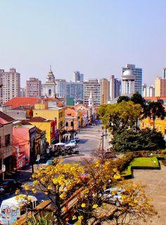 Centro histórico de Curitiba, capítal do estado do Paraná, Brasil.