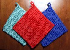 The Best Crocheted Potholder Pattern - Crocheted Kitchen - - Mama's Stitchery Projects