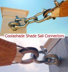 Coolashade Shade Sail Connectors, strong and guaranteed for ten years. Don't settle for cheap alternatives, read our blog for more info.