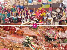 Dulces mexicanos y juguetes mexicanos para boda
