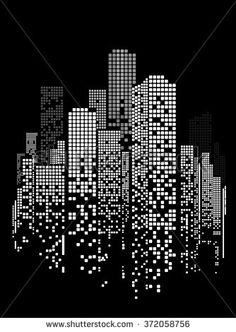 Vector Design Building City Illustration Night Stock Vector (Royalty Free) 372058756 Vector Design – Building and City Illustration at night, City scene on night time, Night cityscape. City Illustration, Design, Vector Design, Illustration, Black Paper Drawing, Building Illustration, Black Backgrounds, Art, City Scene