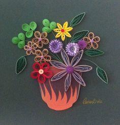 Quilling. Flower pot. By Canan Ersöz.